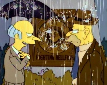 "The Simpsons 07x22 : Raging Abe Simpson and his Grumbling Grandson in ""The Curse of the Flying Hellfish""- Seriesaddict"
